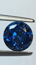 Appx 6mm One Round Synthetic Spinel Deep Vivid Blue Gem Loose Stone Jewel