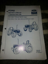 Ford 40 Series Sl and Sle range open station tractor owner operator manual Nos