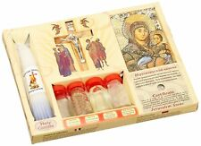 7 in 1 Holy Land Mega Set Holy Water Soil Oil Incense, Crucifix Cross, Candles