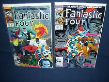 Fantastic Four # 347 & 349 Marvel Comics with Bag and Board