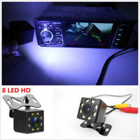 Car Rear-View Backup Parking Camera 8 LED Night Vision Color Image Reversing CAM