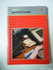 Manuel Apple III QuickFile III Sampler [ Version Anglaise ]