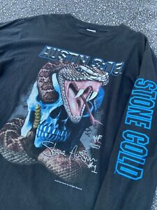 Vtg 1999 WWF Stone Cold Steve Austin Rattle Snake Long Sleeve 2XL