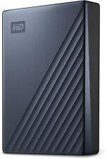 WD 5Tb My Passport Ultra Blue External Hard Drive, USB-C - WDBFTM0050BBL-WESN