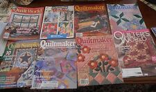 8 Quilting Magazines from 1996 to 1997 & 1 is 2015 4 Quiltmaker / Quilt Sampler