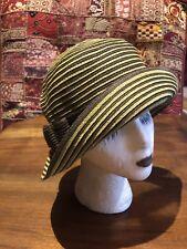 2bc5195234991 Estilo Vintage Verde Marrón Tejido Borde Ancho Sombrero de Sol
