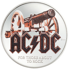 Cook Inseln - 2 Dollar 2019 - AC/DC - For those about to Rock - 1/2 Oz Silber PP