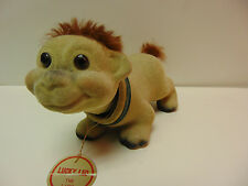 RARE Vintage Lucky Leo the Lion Cub Nodder Flocked Japan Bobble Troll DABS