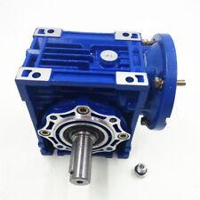 NMRV050 80B14 Worm Gear Reducer Ratio10:1 Speed 1400r/min 19mm for Stepper Motor