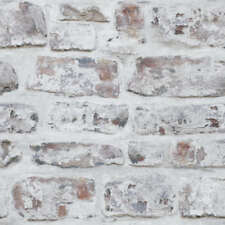 Arthouse Whitewashed Wall Rustic Brick Feature Wallpaper 671100