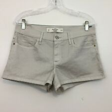 Abercrombie & Fitch Women's Short Size 10 High Rise Silver Shine