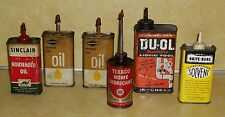 VTG DUOL SINCLAIR GOODYEAR BRITE BORE MILL RUN TEXACO PETROLEUM HOME OLD OIL CAN