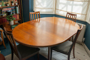 Mid Century G Plan Dining Table And Four Chairs