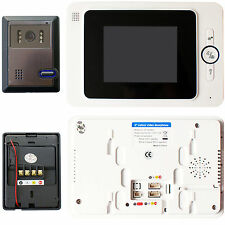 Wired Colour Video Door Entry Phone System -100M Range Outdoor Intercom Security