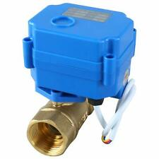 Motorized Ball Valve Brass Electrical Ball Valve, 9-24V AC/DC 3 Wire Setup 3/4