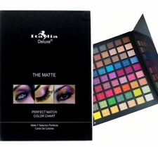 Italia Deluxe-THE MATTE 63 EYESHADOW PALETTE PERFECT MATCH COLOR CHART