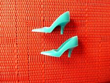 VINTAGE BARBIE TURQUOISE CLOSED TOE MARKED JAPAN FROM 1960'S