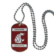 Washington State Cougars Dog Tag Necklace Ncaa Fan Neck Ball Chain College Team