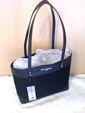 KARL LAGERFELD PARIS Maybelle Saffiano Tote Black and Lace NWT