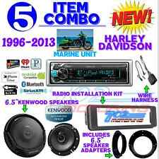"IPOD MARINE RADIO HARLEY FLHT INSTALL FLHX KIT KENWOOD 6.5"" SPEAKERS & ADAPTERS"