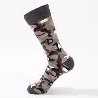 Fashion Men Camo Socks Fashion Patterned Crew Socks Comfort Cotton Socks