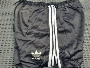80er ADIDAS Glanz NYLON vintage Glanz shiny Shorts D9 (XL) SAMPDORIA