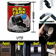 "4""x 5' Strong Flex Tape Self Fusing Wire Pipe Repair Waterproof Sealing Adhesive"