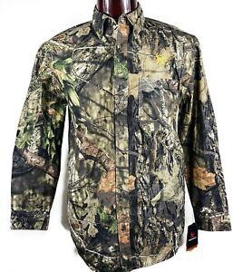 Mossy Oak Bushmaster Pro Hunter Camouflage Medium Hunting Long Sleeve Shirt NEW
