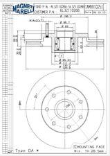 Disc Brake Rotor-RWD Front Magneti Marelli 1AMVR10251