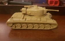 Marx Battleground / Desert Fox US 51 Tank w/ Machine Gun in Desert Tan. Nice