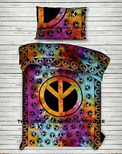 Peace Sign TIE DYE Hippie Indian Wall Hanging Tapestry Bedding Bedspread Throw