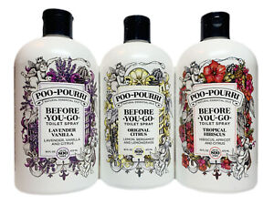 Poo-Pourri Before-You-Go Toilet Spray Refill Bottle, Scent Variation, 16 Oz