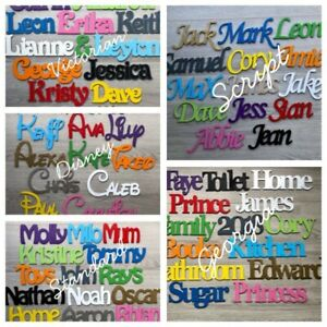 Personalised Wooden Name Letters, Toy Box Names, Door Signs, New Baby Gift
