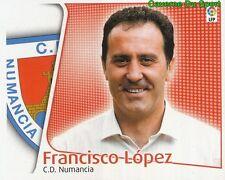 FRANCISCO LOPEZ ESPANA CD.NUMANCIA CROMO STICKER LIGA ESTE 2005 PANINI