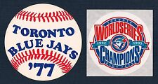 Toronto Blue Jays 1977 1st Season & 1992 1993 World Series Champions Stickers