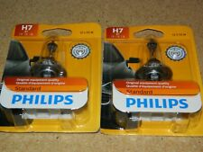 (2) NEW PHILIPS H7 12972B1 STANDARD HEADLIGHT BULBS 12V 55W FOR MALIBU CROSSFIRE