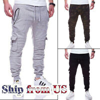 Casual Jogger Pant Men Jogging Slim-Fit Fleece Sport Workout Sweatpants Trousers