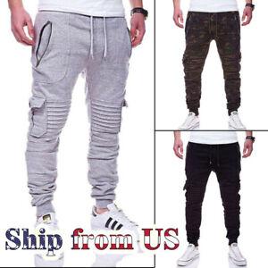 Casual Jogger Pant Men Jogging Slim-Fit Fleece Sport Workout Sweatpants Trousers