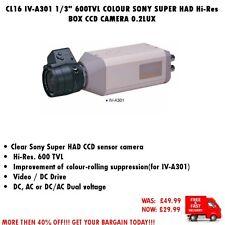 """CL16 IV-A301 1/3"""" 600TVL COLOUR SONY SUPER HAD Hi-Res BOX CCD CAMERA 0.2LUX"""