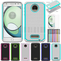 Hybrid Rubber Shockproof Hard Case Phone Cover For Motorola Moto Z Play Droid