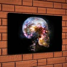 Skull Art Space Light Home Decor Room HD Canvas Print Picture Wall Art Painting