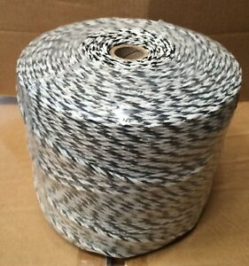 3MM PREMIUM ELECTRIC FENCE POLY WIRE - Fencing 500m Twine Sheep Black White High