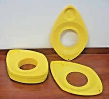WilPak Plate Holder Plastic Drink & paper Plate Holder set of 12 Yellow Vintage