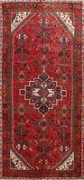 Vintage Hamedan Geometric Hand-knotted Area Rug Wool Oriental Classic Carpet 5x9