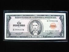 DOMINICAN REPUBLIC 1 PESO 1964 P99 DOMINICANA SHARP 70# CURRENCY BANKNOTE MONEY
