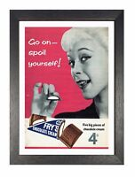 Fryes Chocolate Poster Classic Vintage Retro Print Beautiful Lady Advert Sweet