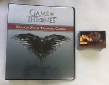 Game of Thrones Season 4 Rittenhouse Binder, P3 Promo Card & Base Set