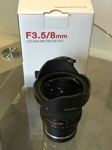 Samyang 8mm F3.5 UMC Fisheye CS II for Sony E Mount - LIKE NEW