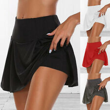 Summer Womens Athletic Sports Skirt Running Jogging Mini Skirts with Underwear