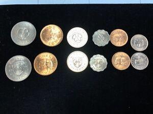 2 mint sets GHANA COIN pesetas 1975 1967 twenty ten five one half brilliant unk